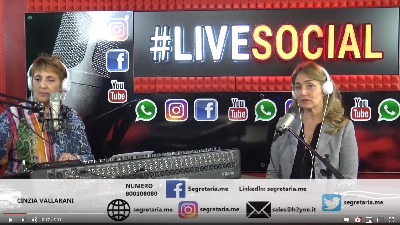 Live Social di Radio Roma Capitale intervista www Segretaria me - YouTube